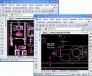 Rysunek podtorza suwnicy otwarty w programie ZWCAD, a następnie wydrukowany do PDF,